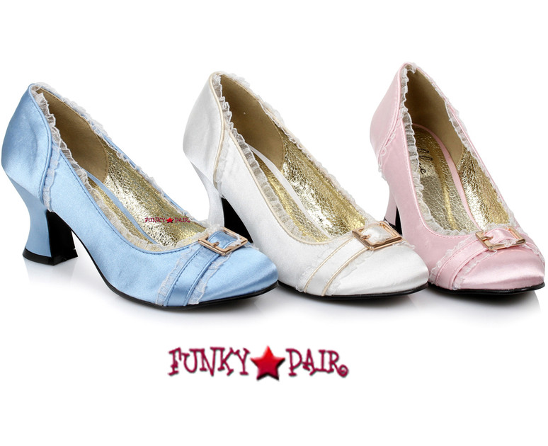 "254-Edith, 2.5"" Cosplay Satin Shoes for Princess Costume Shoes"
