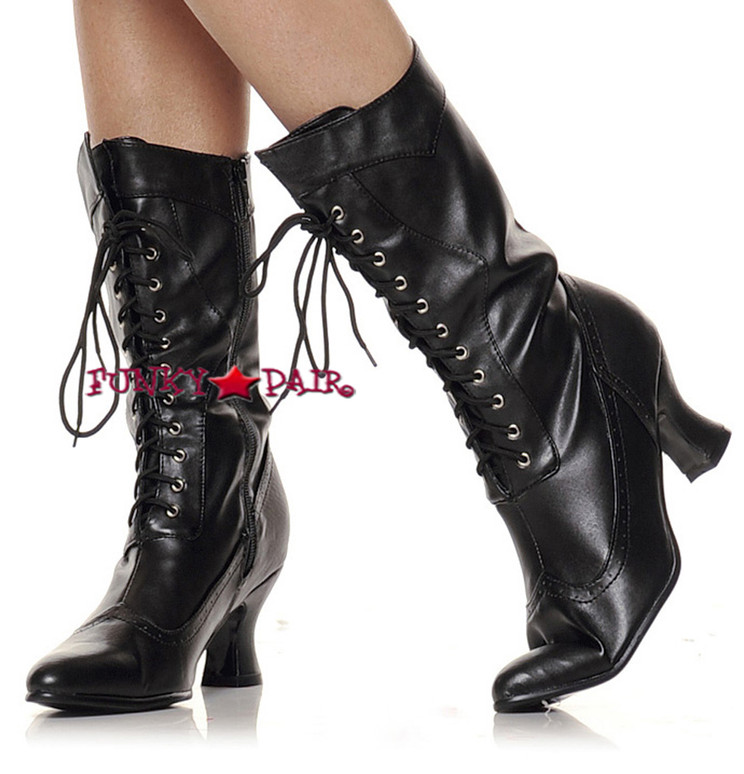 253-Amelia, 2.5 inch Victorian Boots,COSTUME BOOTS