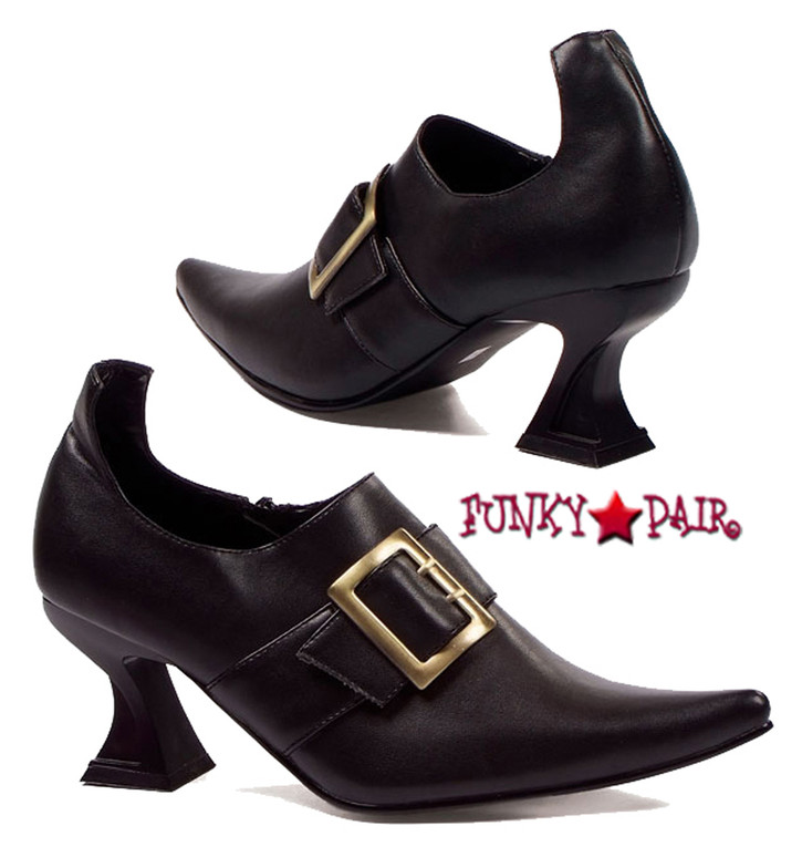 301-Hazel, 3 inch Witch Shoes,COSTUME SHOES