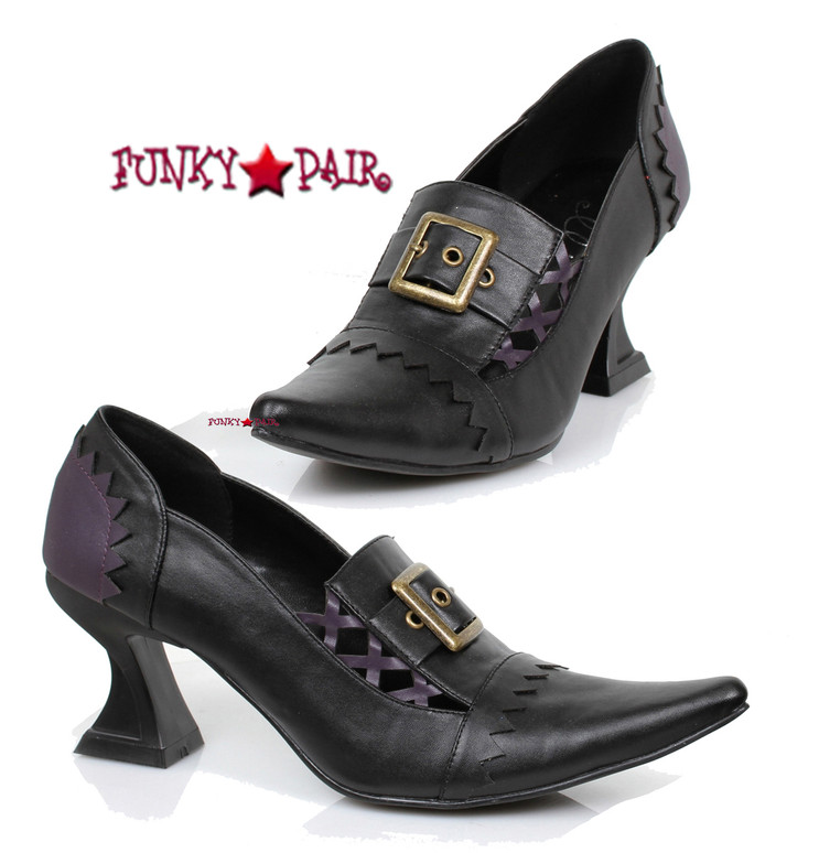301-Quake, 3 inch witch shoes,COSTUME SHOES