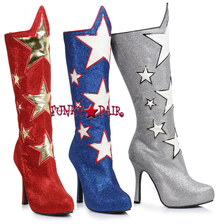 420-Hero, 4 Inch Boots with Star,COSTUME SHOES