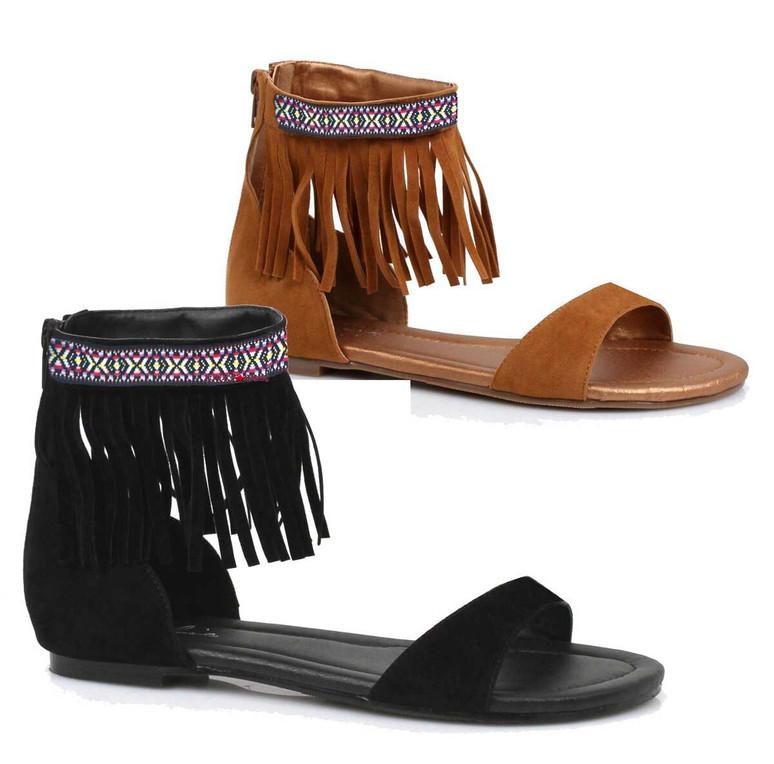 Women Costume Indian Sandal 015-Hena,