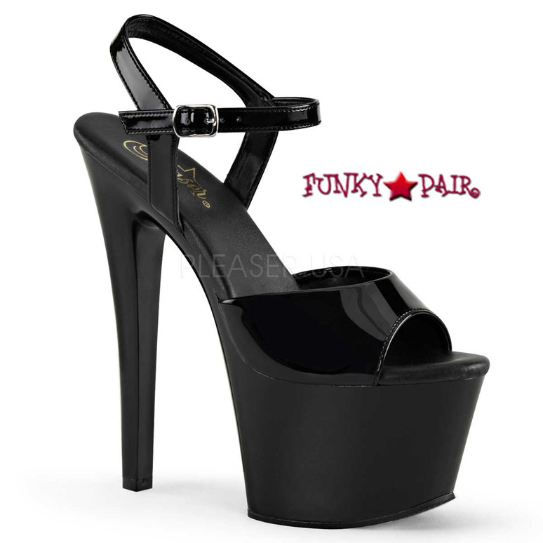 Pleaser | Sky-309VL, Platform Sandal with Vegan Leather Insole