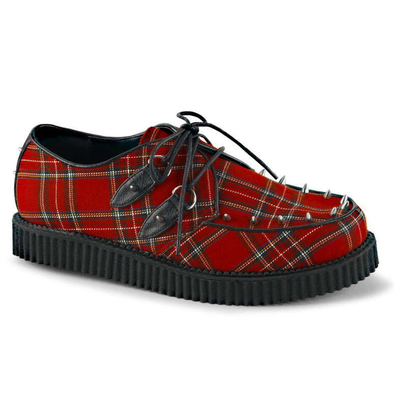 Creeper-603, 1 inch platform plaid creeper Demonia Shoes