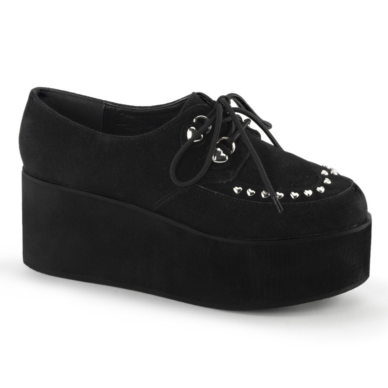 Grip-03, Heart Shape Stud Mary jane Gothic Demonia Shoes