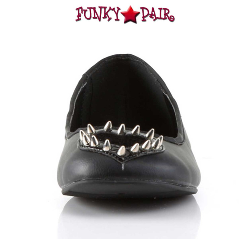 Front view Star-24, Round Toe Flat with Heart Demonia