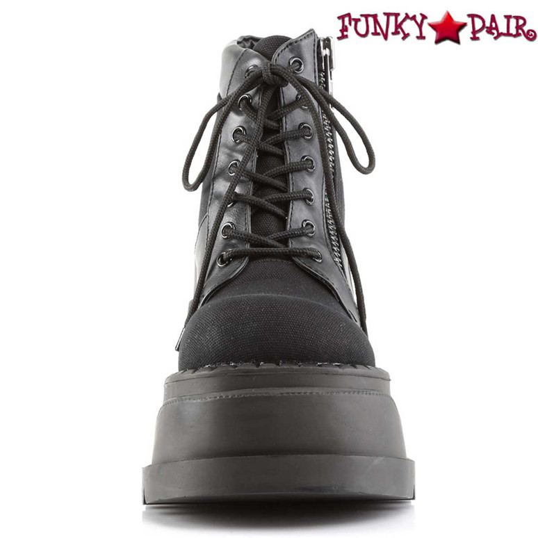 Stomp-10 Front Lace Up View by Demonia