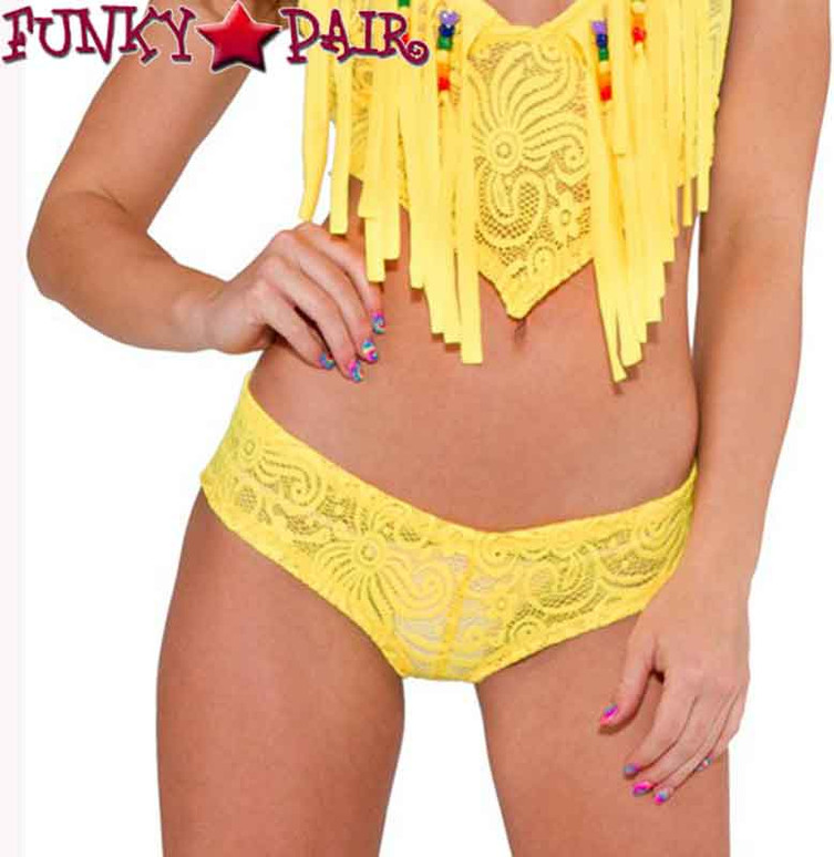 J. Valentine | RB159, Rave Basic Lace Shorts On Sales $14.95 color sunshine yellow