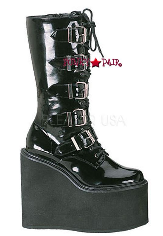 Demonia SWING-220, Cyber Punk Platform Calf Boots