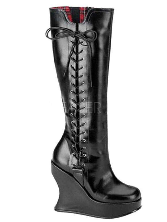 Goth Punk Lolita Wedge Boots Demonia   Bravo-100