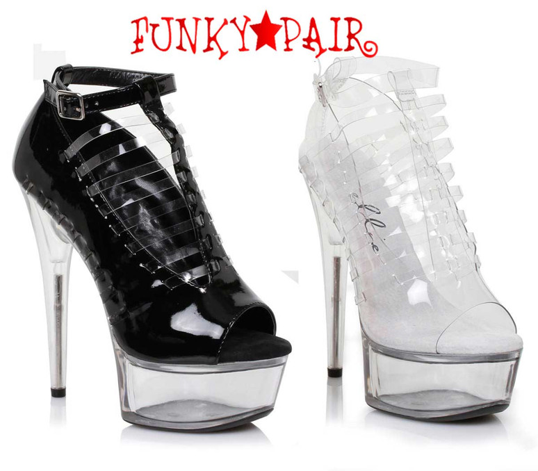 "Ellie Shoes | 609-Amber 6"" Heel Peep Toe Sandal"