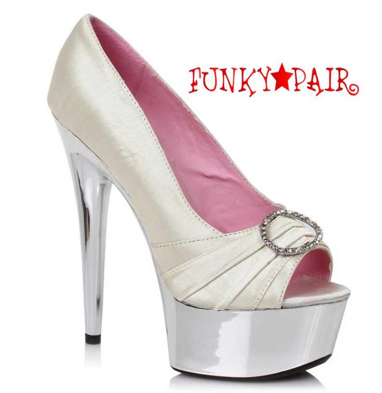 "Nude 609-Lauren 6"" Satin Peep Toe Pump Ellie Shoes"