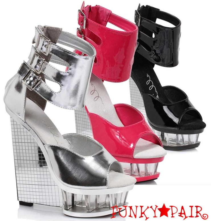 "Ellie Shoes | 610-Mira 6"" Wedge Ankle Strap Sandal"
