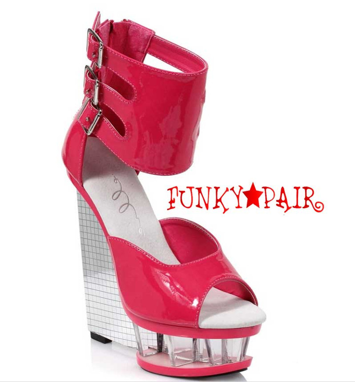"""Red 610-Mira 6"""" Wedge Ankle Strap Sandal  Ellie Shoes"""