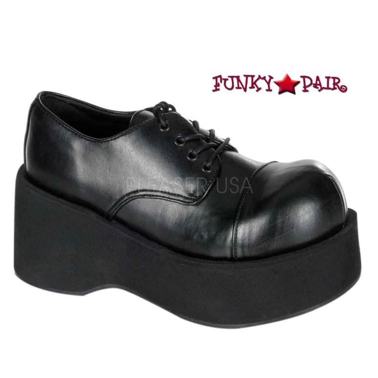 Demonia | Dank-101, Vegan Leather Platform Punk Shoes