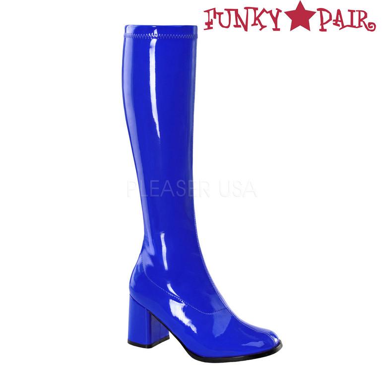 Blue Women's Go Go Boots GoGo-300 | Funtasma