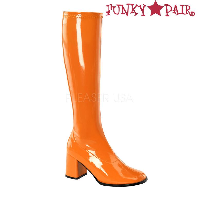 Orange Women's Go Go Boots GoGo-300 | Funtasma