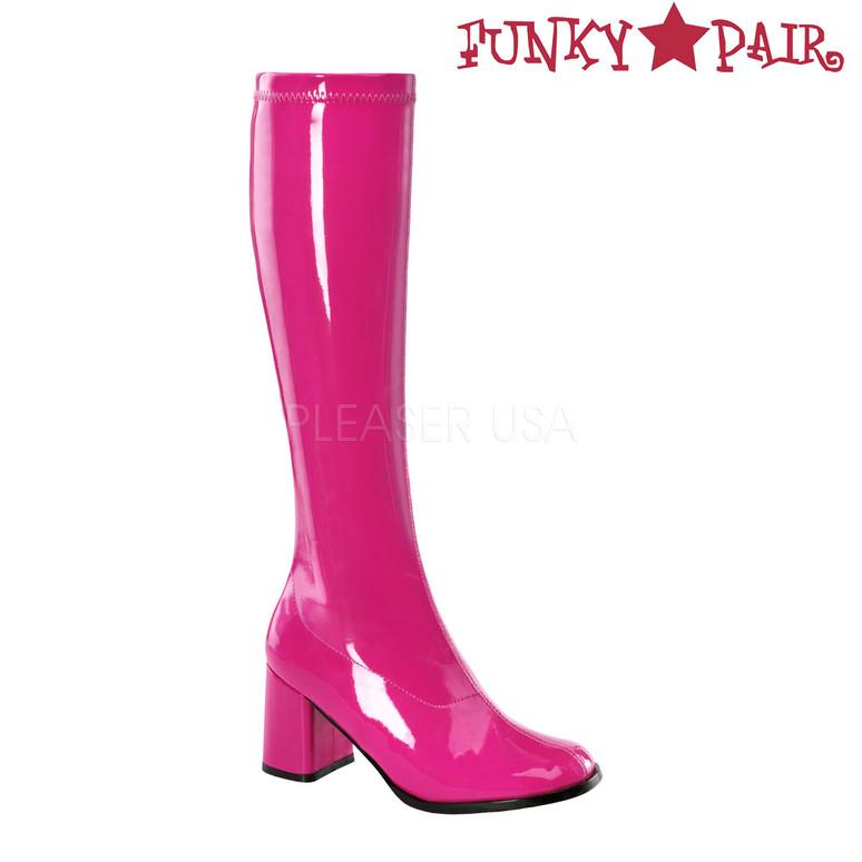 Hot Pink Women's Go Go Boots GoGo-300 | Funtasma