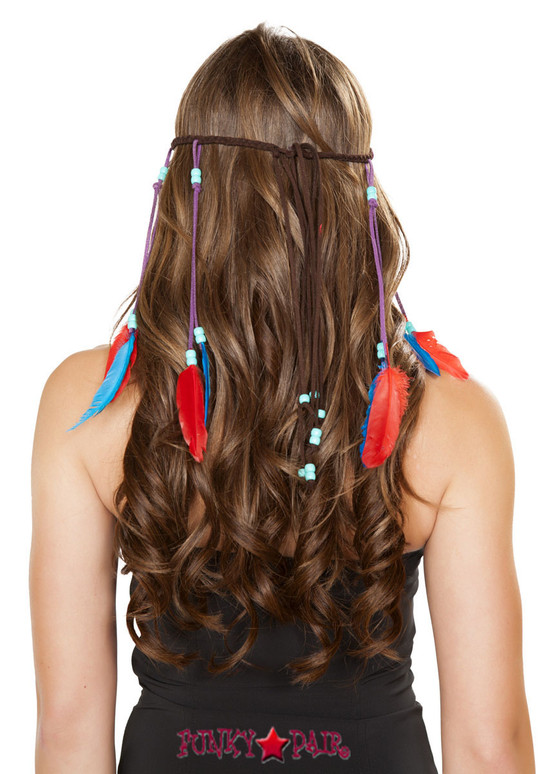 H4726, Braided Brown Headband