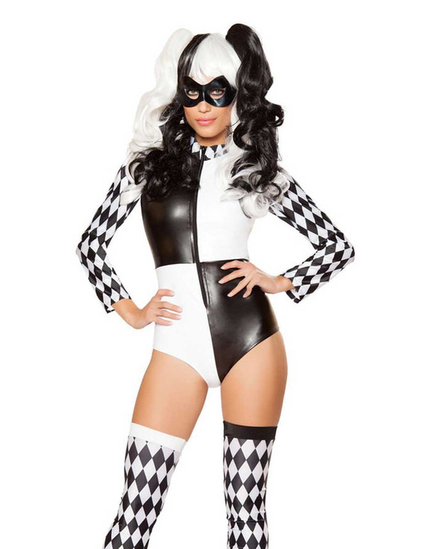 R-10045, Playful Jester Babe Romper Costume by Roma Costume