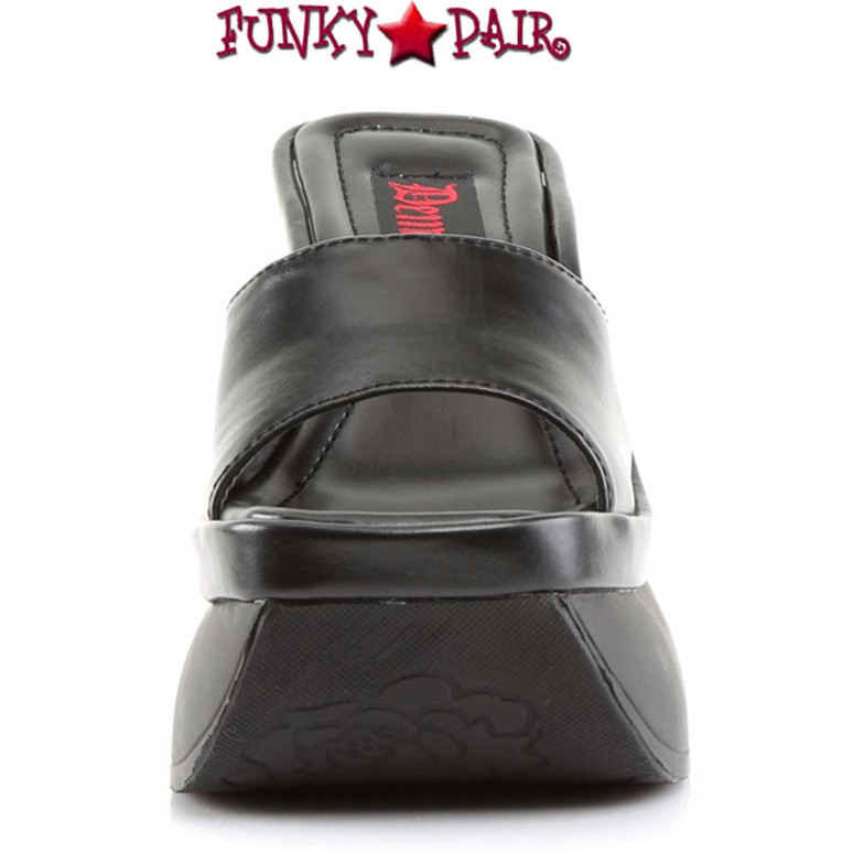 Front View Demonia | Pace-01, Platform Wedged Sandals