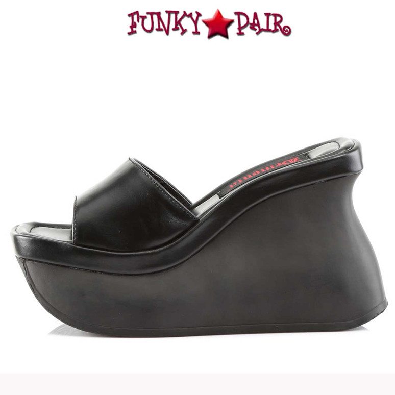 Demonia | Pace-01, Platform Wedged Sandals Side View