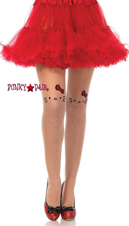 HK7956, Hello Kitty Tattoo Face Pantyhose