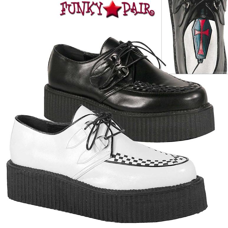 Demonia |  V-Creeper-502 Men Gothic Shoes