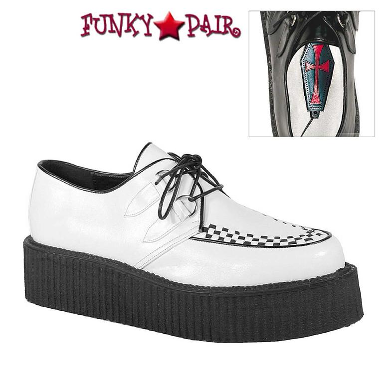 White V-Creeper-502 Men Gothic Shoes