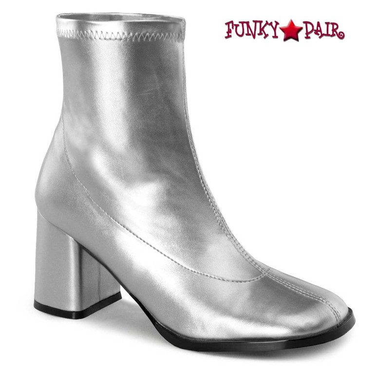 GOGO-150, Women's Silver Go Go Ankle Boot