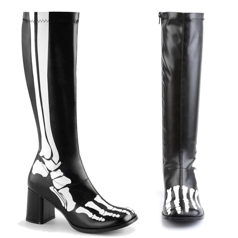 GOGO-300XRAY, Boots with X-ray Skeleton print | Funtasma