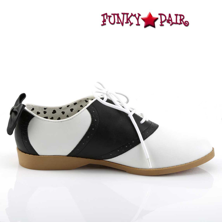Saddle-53, Saddle Shoes with Bow | Inner Side View