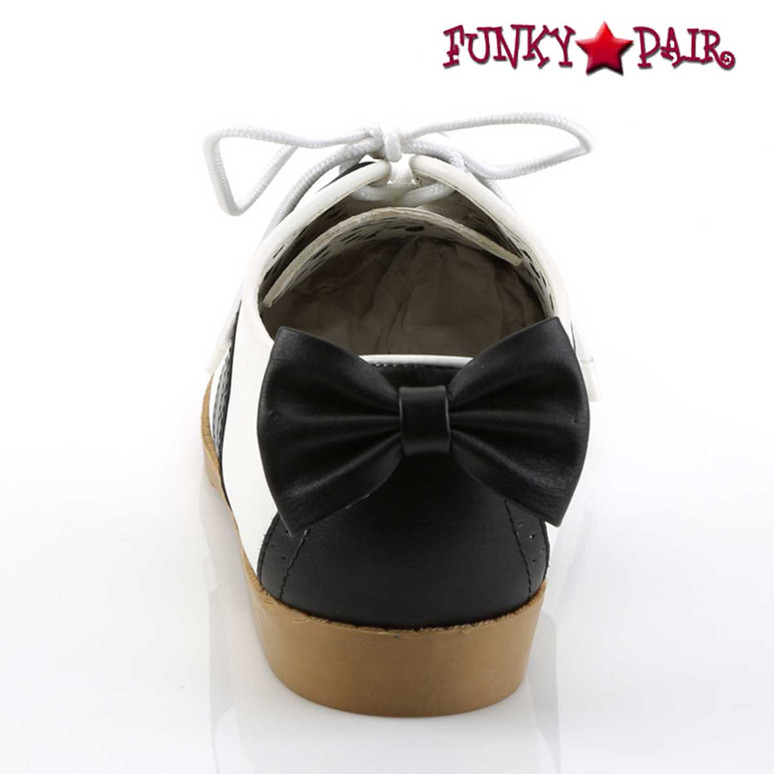 Back View Saddle-53, Saddle Shoes with Bow | Funtasma
