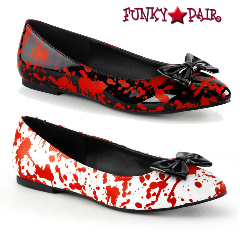 Funtasma Vail-20BL, Flats with Blood Prints