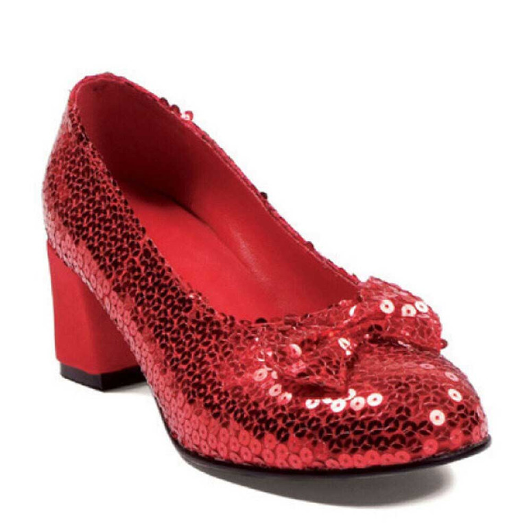 2 inch sequin shoes with bow