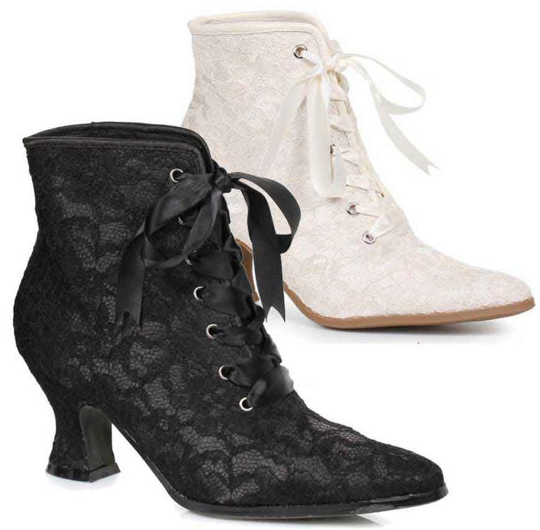 """2.5"""" Lace Ankle Boots 253-Elizabeth Ellie shoes"""