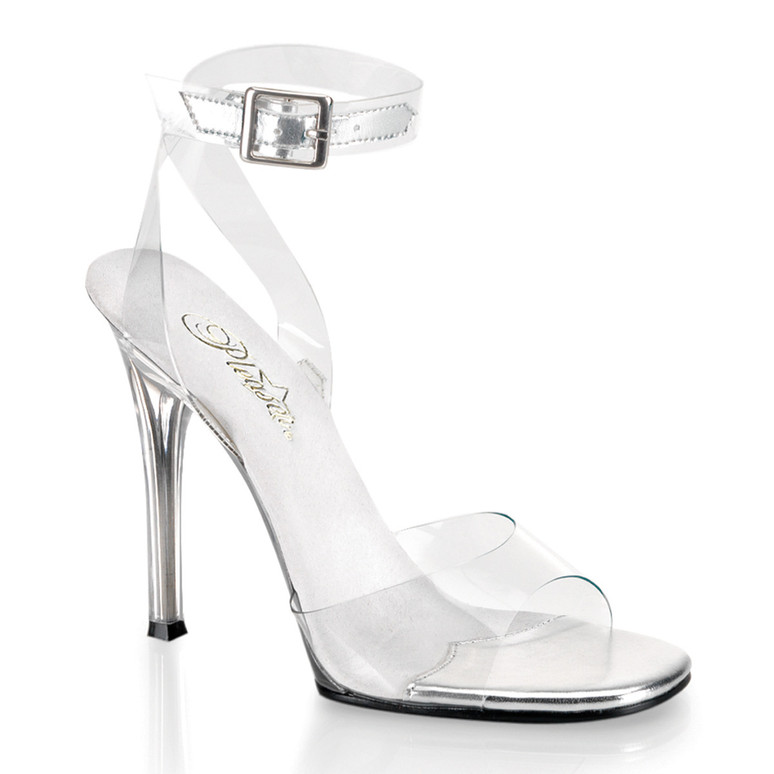"""4.5"""" Clear Ankle Wrap Sandal 