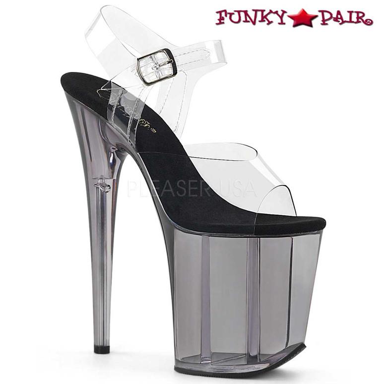 Smoke Tint Platform Ankle Strap Sandal Pleaser Shoes Flamingo-808T