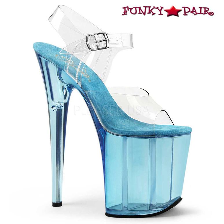 Clearance Tint Platform Ankle Strap Sandal Pleaser Shoes Flamingo-808T