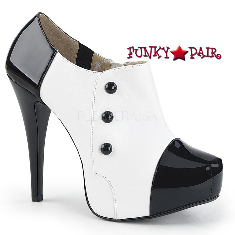 Pink Label | Chloe-11 Womens Ankle Boots Large Size 9-16 color white/black