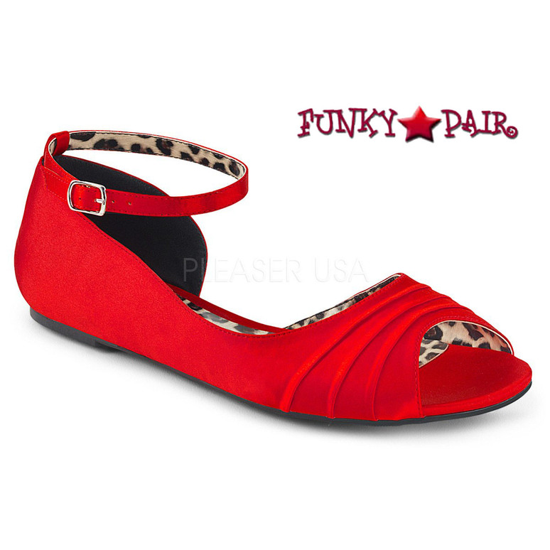 Pink Label | Anna-03 Womens Ballet Flat Large Size 9-16 Color Red