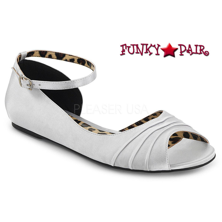 Pink Label | Anna-03 Womens Ballet Flat Large Size 9-16 Color White