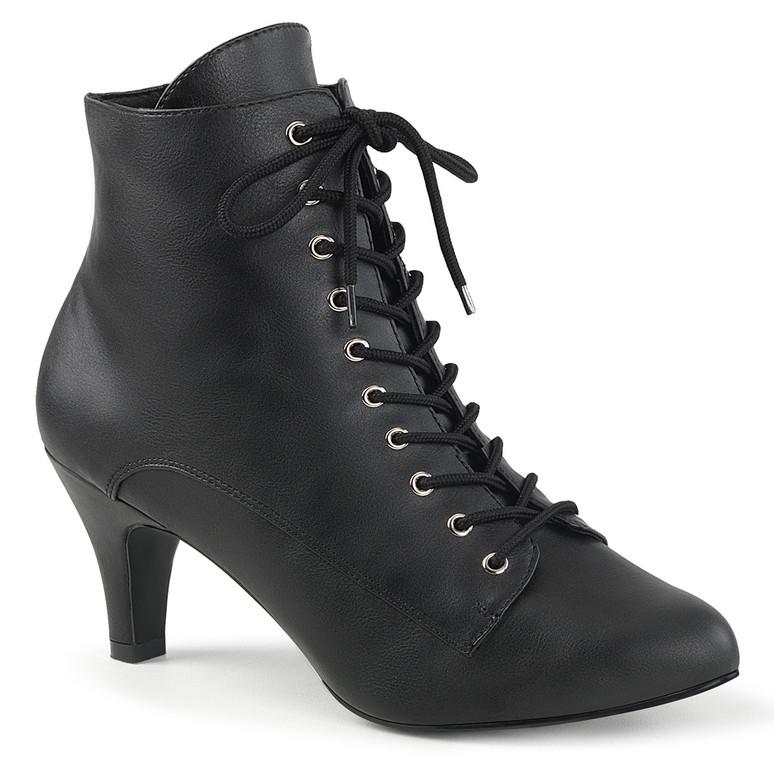 "Divine-1020, 3"" Block Heel Ankle Boots   Pink Label"