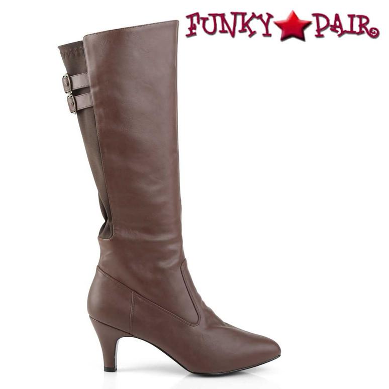 Divine-2018, 3 Inch Heel Knee High Boots | Side View