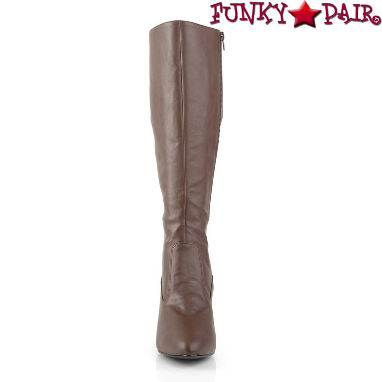 Front View Divine-2018, 3 Inch Heel Knee High Boots |