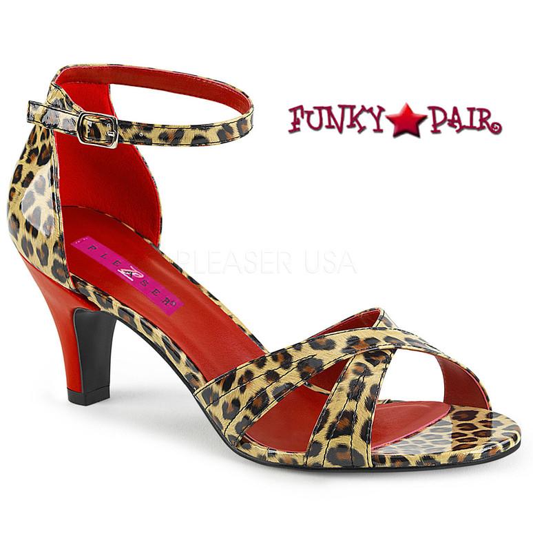 Pink Label | Divine-435, Ankle Strap Sandal Size 9-16 Color Leopard
