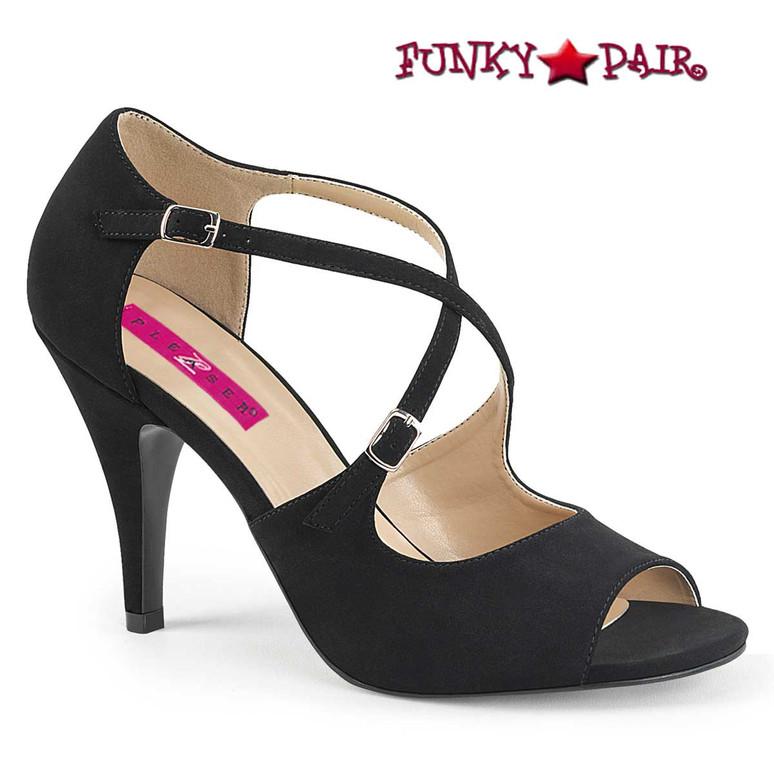 Pink Label   Dream-412 Transgender Shoes Size 9-17 black  Nubuck