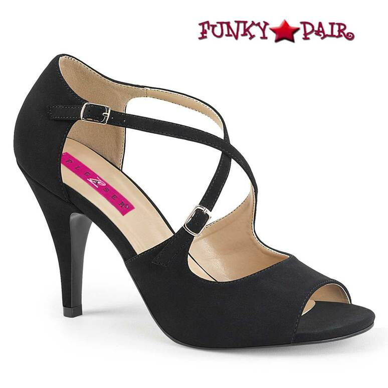 Pink Label | Dream-412 Transgender Shoes Size 9-17 black  Nubuck