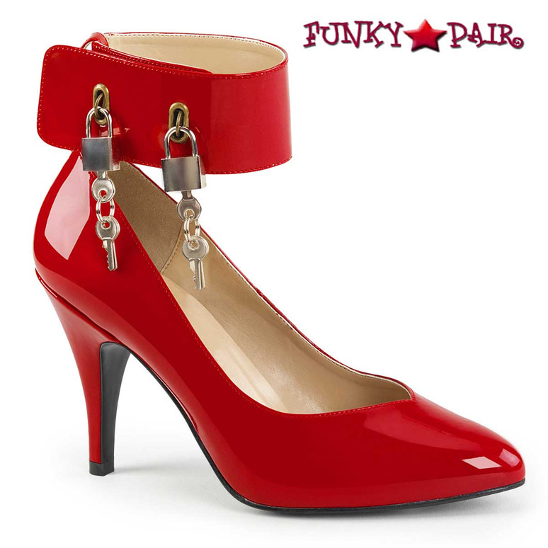 Dream-432 Drag QUEEN High Heels Plus Size 9-17 red Pink Label |