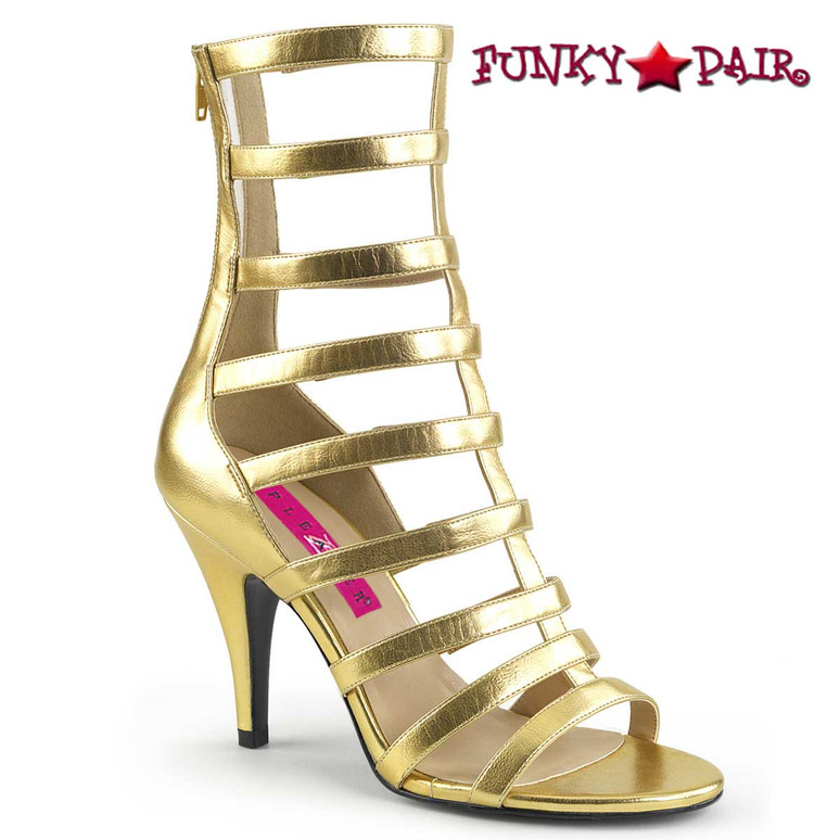 Dream-438 Drag Queen Boots Plus Size 9-17 gold Pink Label |